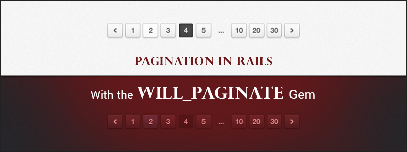 Pagination in Rails With the will_paginate Gem